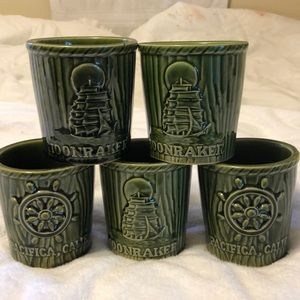 VTG MOONRAKER PACIFICA CA SEA BREEZE HOTEL MUGS